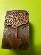 Letterpress Printing Printer Block Press Metal Type Fig Tree Wood Base
