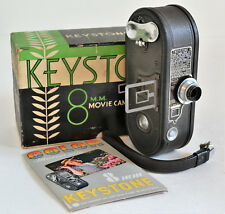 Keystone K-8 8mm Movie Camera with Wollensak Velostigmat 3.5 Lens, Box, Manual
