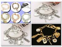 Fashion Jewelry Women Men Crystal Diamond Chain M @ K LetterBangle Bracelet !