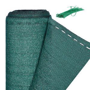 Zaunblende grün 1,2 m hoch Sichtschutz Gartenzaun Zaunsichtschutz Schattiernetz