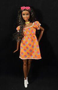 Barbie Made to Move Fashionistas 166 Doll Long Brown Hair AA - Beautiful