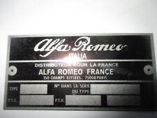 Placa de identificación escudo s39 Alfa Romeo france montreal Giulietta bertone GTA Giulia