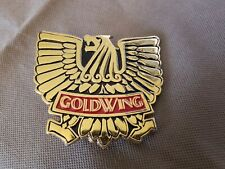 VINTAGE Honda Goldwing Belt Buckle 1976 Gold and Red