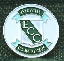 """RARE_Limited Edition_ EVANSVILLE Country Club 1"""" Ni-Silver Plated Ball Marker"""
