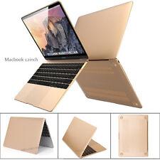 NEWEST Macbook 12inch 2-IN-1 Ultra Slim Gold Matte Hard Case Cover -2015 Release