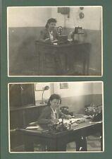 CINECITTA', Roma. Ufficio postale anno 1940. Due foto di cm 14x10.