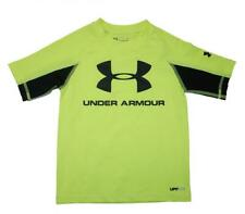 Under Armour Boys Hi Vision Yellow & Black Rashguard Swim Top Size 5