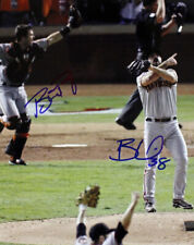 BUSTER POSEY & BRIAN WILSON SIGNED PHOTO 8X10 RP AUTOGRAPHED MLB GIANTS