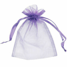 50 Organza Bags Jewellery Pouches Wedding Favour Party Mesh Drawstring Gift Cake