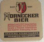 alter Bierdeckel HORNECKER BIER, Brauerei Stempfhuber 🍺 ST-1