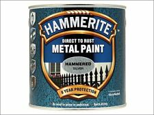 Hammerite - Direct to Rust Hammered Finish Metal Paint Silver 2.5 Litre