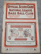 1910 RARE NY GIANTS OFFICIAL SCORE CARD POLO GROUNDS MATHEWSON PITCHES 4-1 WIN