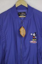 VINTAGE RARE Mens DISNEY Bomber Jacket Coat URBAN FESTIVAL CASUAL Blue XL UP1RL