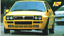 LANCIA DELTA INTEGRALE SPEC SHEET / Brochure:1992,1993,1994