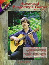 Advanced Fingerstyle Guitar Learn to Play Folk Country TAB Music Book & CD