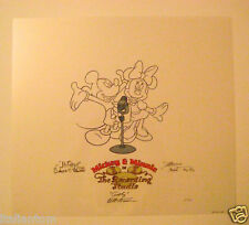 RARE HAND SIGNED DISNEY MICKEY MINNIE MOUSE CEL SERICEL ART WAYNE ALLWINE
