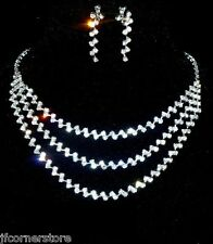 BRIDAL/WEDDING  Crystal/Diamonte Necklace Set *167*