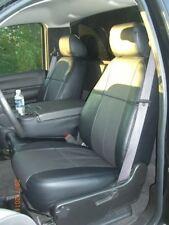 Clazzio Leather Custom Black Seat Covers for Chevy Silverado 2007-2013 Crew Cab