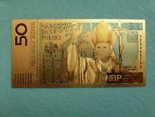 50 zlotych,colored .9999 gold leaf,John Paul II.
