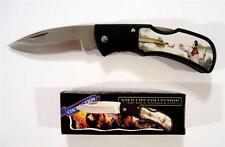 """FROST CUTLERY WILD LIFE COLLECTION DUCK FOLDING POCKET KNIFE 4"""" CLOSED FK210D"""