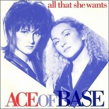 All That She Wants by Ace of Base (4 Track Maxi-Single CD,1993,Arista) Brand New