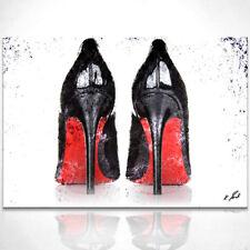 Mode Schuhe Pumps mit roter Sohle Bild auf Leinwand Abstrakte Bilder D0597