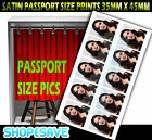Passport Size Photo Personalised Your Image Printing Service Satin Finish