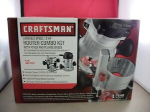 Craftsman Variable Speed 2 HP 12 Amp Router Combo Kit Fixed and Plunge Bases
