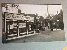 More details for old postcard lapworth filling car station petrol garage globes signs rp bp shell