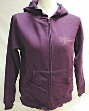 Harley-Davidson Women's Purple Raisin Full Zip Scalloped Hoodie Sweatshirt Med.