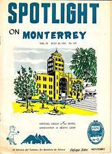 Spotlight on Monterrey July 26 1957 Hotels Bars Restaurants Vintage Ads