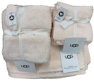 UGG Martis Towel Set Light Baby Pink New 2 Bath 2 Hand and 4 Face Towels New!