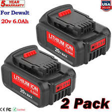 2 Pack For Dewalt 20V 20Volt Max XR 6.0AH Lithium Ion Battery DCB206-2 SALE USA