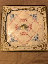 Vintage Box with Ladies Handkerchiefs Made in Switzerland Cotton color embroider