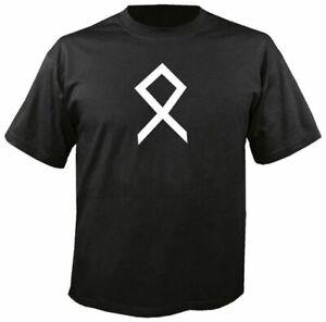 OTHALA RUNE BLACK T SHIRT, o = property, estate. odal thor viking asatru odin