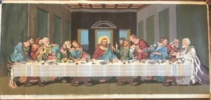 Vintage PBN Paint By Numbers Last Supper Palmer Paint Co.  1952  Canvas