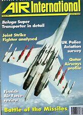 Air International 1997 February kai Tak,Qatar Airways,Finnish Air Force,Beluga