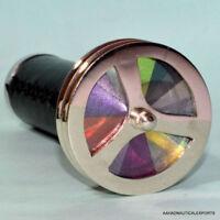 Vintage Collectible Brass Kaleidoscope Maritime Double Wheel Pocket Antique Gift