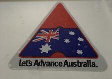 "Mitsubishi ""lets Advance Australia"" Rear Window Sticker Suit Sigma Turbo PWS SE"