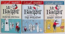 3 LEIGH HOBBS MR BADGER BOOKS, MAGIC MIRROR, BIG SURPRISE, DIFFICULT DUCHESS