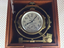 1940's Era Hamilton Ship mounted Chronometer Watch Model 22 Hamilton Clock