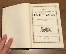 The Best Known Works of Emile Zola 1941 Blue Ribbon Books vintage hardcover
