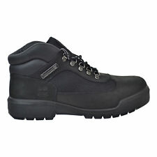 {A1A12} MEN'S TIMBERLAND FABRIC AND LEATHER WATERPROOF FIELD BOOTS BLACK *NEW*