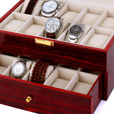 Wooden 20 Grids Lacquer Watch Organizer Storage Box High Quality Collection Case