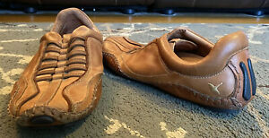 PIKOLINOS Mens Fuencarral Slip-On Driving Loafers Brown LEATHER SHOES 10 US EUC!