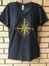 Pyrat Rum Smiling Buddha American Apparel Track Shirt Tri Blend L Tee Tshirt