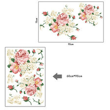 Peony Floral Art Removable Wall Decals Sticker Paper Mural Hall Decor Home Room