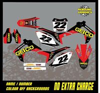 HONDA CR CRF 85 150 125 250 450 MOTORCROSS FULL GRAPHICS KIT-DECALS-STICKER-MX