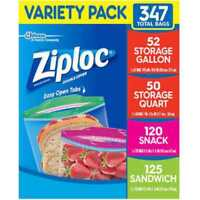 Ziploc Snack & Sandwich Bags Storage Bags Quart & Gallon Ziploc Variety USA SELL