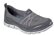 Skechers Ladies Grey Gratis True Heart Slip Ons Uk 4